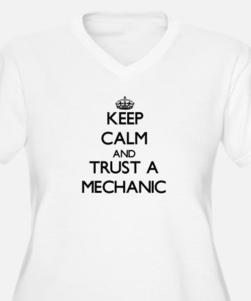 Keep Calm and Trust a Mechanic Plus Size T-Shirt
