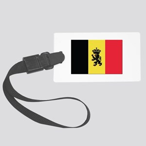 Belgium State Ensign Flag Large Luggage Tag