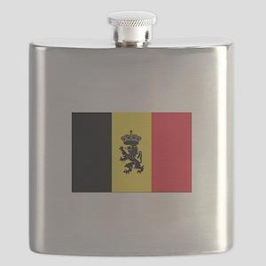 Belgium State Ensign Flag Flask