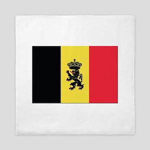 Belgium State Ensign Flag Queen Duvet