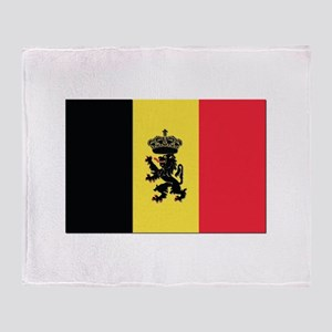 Belgium State Ensign Flag Throw Blanket