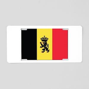 Belgium State Ensign Flag Aluminum License Plate