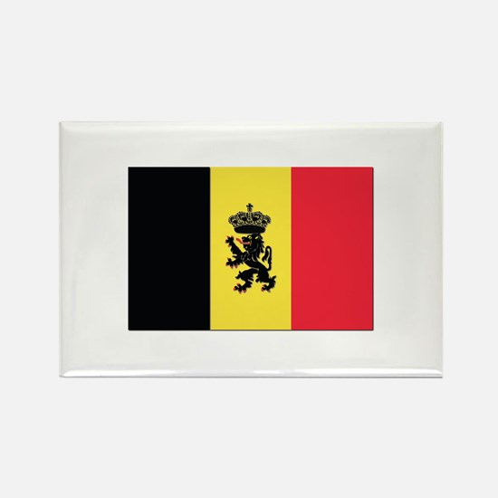 Belgium State Ensign Fl Rectangle Magnet (10 pack)
