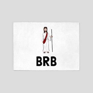 Jesus BRB 5'x7'Area Rug