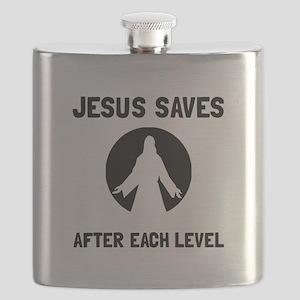 Jesus Saves Level Flask