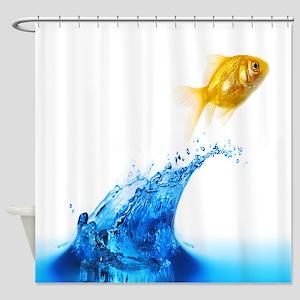 Goldfish Splash Shower Curtain
