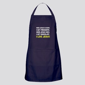 Love Jesus Apron (dark)