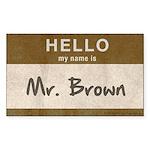 Reservoir Dogs Mr. Brown Sticker (rectangle)