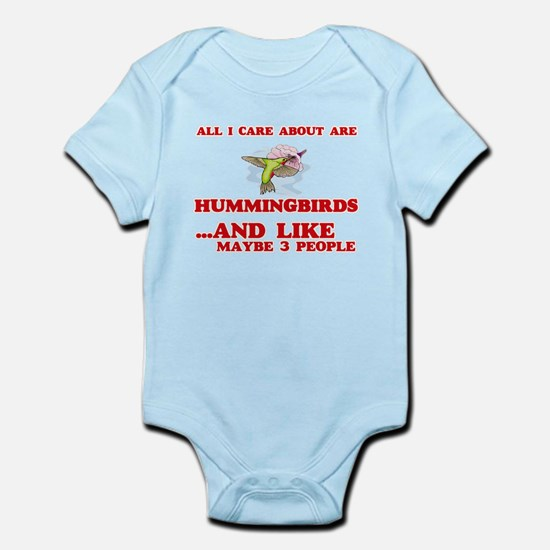 All I care about are Hummingbirds Body Suit