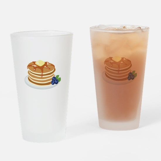 Pancakes Drinking Glass