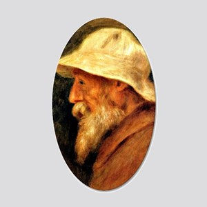 Renoir - Self portrait with  20x12 Oval Wall Decal