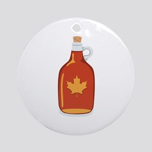 Canadian Maple Syrup Ornament (Round)