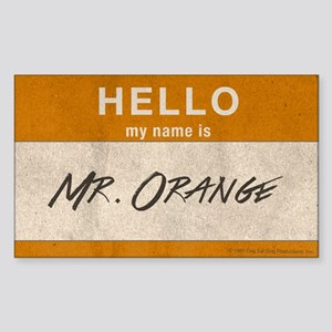 Reservoir Dogs Mr. Orange Sticker (rectangle)