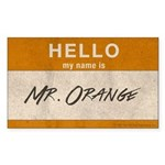 Reservoir Dogs Mr. Orange Sticker (rectangle)