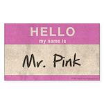 Reservoir Dogs Mr. Pink Sticker (rectangle)