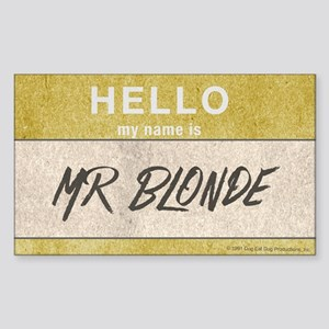 Reservoir Dogs Mr. Blonde Sticker (rectangle)