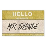 Reservoir Dogs Mr. Blonde Sticker (rectangle)