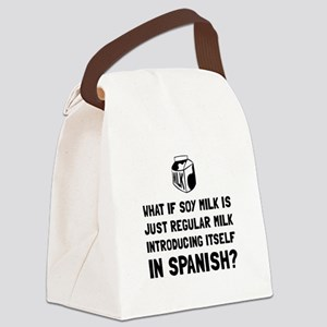 Soy Milk Canvas Lunch Bag