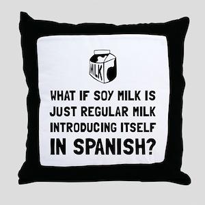 Soy Milk Throw Pillow