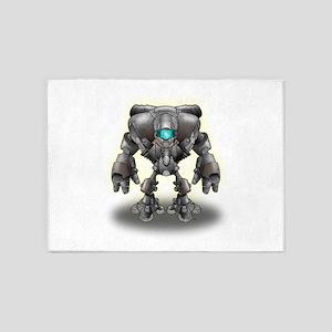 Warrior Robot 5'x7'Area Rug