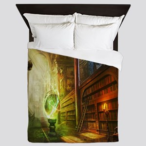 Mystical Library Queen Duvet