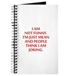 I am not funny Journal