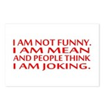 I am not funny Postcards (Package of 8)