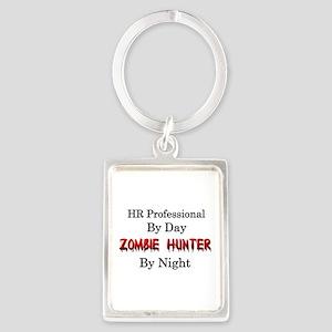 HR Professional/Zombie Hunter Portrait Keychain