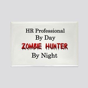 HR Professional/Zombie Hunter Rectangle Magnet