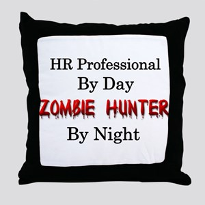 HR Professional/Zombie Hunter Throw Pillow