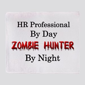 HR Professional/Zombie Hunter Throw Blanket