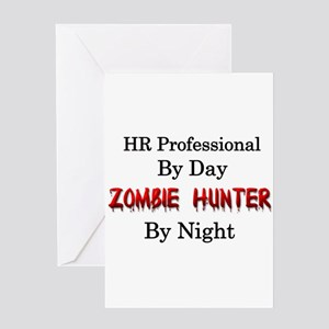 HR Professional/Zombie Hunter Greeting Card