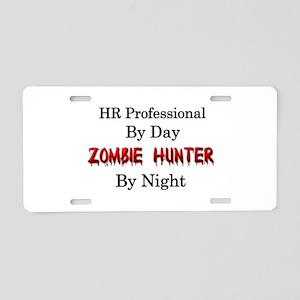 HR Professional/Zombie Hunt Aluminum License Plate