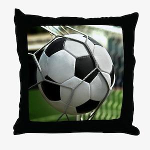Soccer Goal Throw Pillow