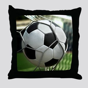 Soccer Goal Throw Pillow