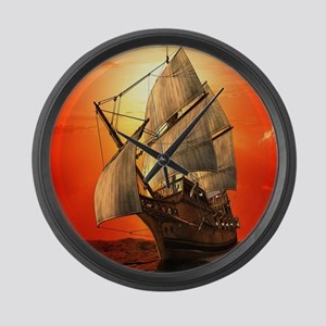 Sail boat Large Wall Clock