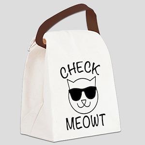 Check Meowti Canvas Lunch Bag