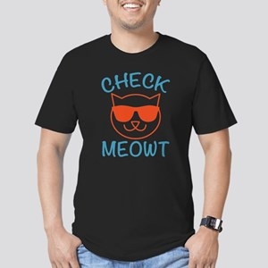 Check Meowti Men's Fitted T-Shirt (dark)