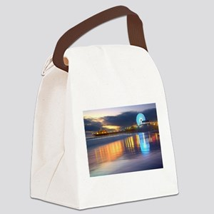 SANTA MONICA PIER Canvas Lunch Bag