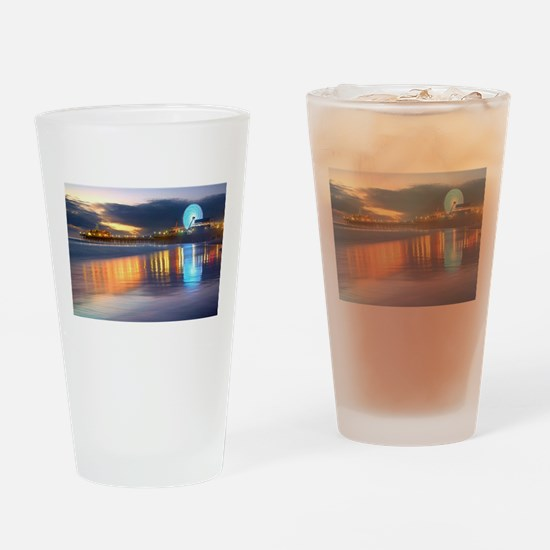 SANTA MONICA PIER Drinking Glass