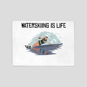 Waterskiing Is Life 5'x7'Area Rug