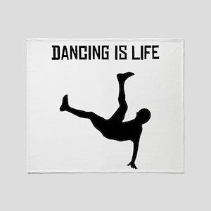Dancing Is Life Throw Blanket