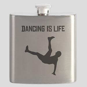 Dancing Is Life Flask