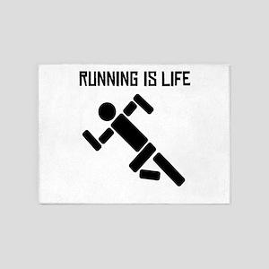 Running Is Life 5'x7'Area Rug
