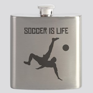 Soccer Is Life Flask