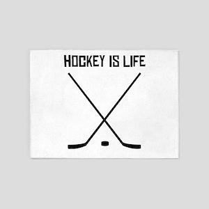 Hockey Is Life 5'x7'Area Rug