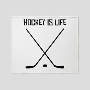 Hockey Is Life Throw Blanket