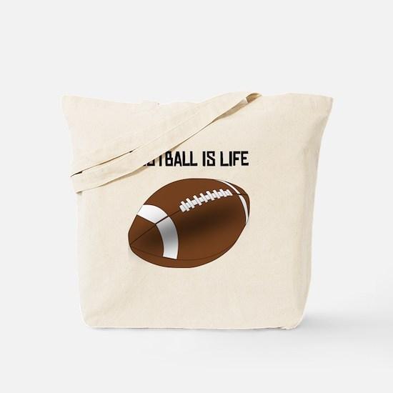 Football Is Life Tote Bag