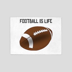 Football Is Life 5'x7'Area Rug