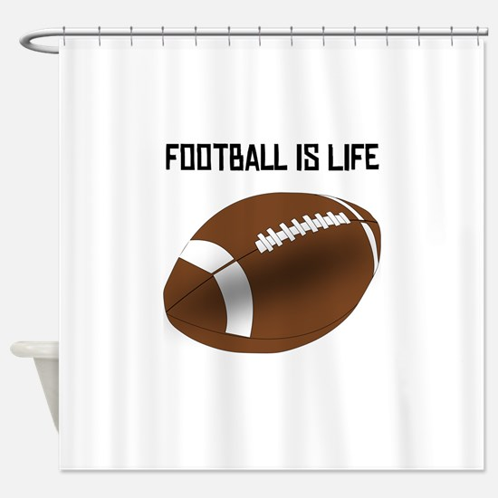 Football Is Life Shower Curtain